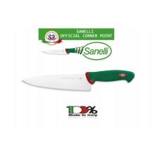 Coltello Professionale Trinciante cm 21 Sanelli Italia Cuochi Chef Approvato dalla F.I.C. Federazione Italiana Cuochi Art. 312621