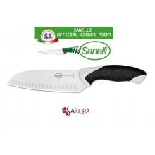 Linea Sakura Professional Knife Coltello Santoku Olivato cm 17 Sanelli Italia Cuoco Chef Art. 385517