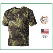 T-shirt Maglia Maglietta Girocollo Militare Manica Corta Camo CZ Art.00103J