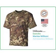 T-shirt Maglia Maglietta Girocollo Militare Manica Corta Camo Vegetato Esercito Italiano Aeronautica Marina Art.00103L