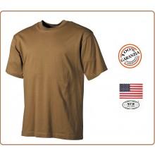 T-shirt Maglia Maglietta Militare Girocollo Manica Corta Tan Sabbia  Art.00103R