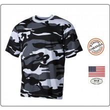 T-shirt Maglia Maglietta Girocollo Militare Manica Corta Camo Urban Soft Air Art.00103X