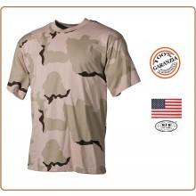 T-shirt Maglia Maglietta Girocollo Militare Manica Corta Desert 3 Toni Soft Air Art.00103Z