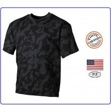 T-shirt Maglia Maglietta Girocollo Militare Manica Corta Camo Mimetismo Digital Night Soft Air Art.00104D