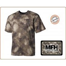 T-Shirt Maglia Magliette Girocollo Nuovo Mimetismo Camo Mimetica A-Tacs MFH  Art.00104P