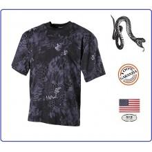 T-shirt Maglia Maglietta Girocollo Militare Manica Corta Serpente Nero  Halbarm Snake Black, Art.00105N