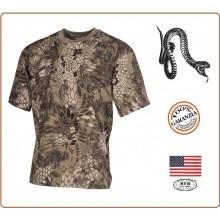 T-shirt Maglia Maglietta Girocollo Militare Manica Corta Serpente Halbarm snake FG  Art.00105O
