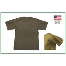 T-shirt Maglietta US  Manica Corta Verde OD  con Tasche Manica MFH Art.00121b