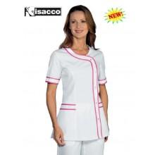 Casacca Camice Brasilia Bianca Fuxia Isacco Personalizzabile Art.005886