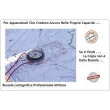Bussola Cartografica Montagna Mappa Boy Scout Alpinismo Militare Soft Air Professionale Art.34203