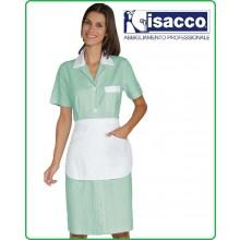 Camice Positano Isacco Con Grembiulino Manila Rigatino Verde Bianco - Rosa Bianco - Azzurro Bianco - Nero Bianco Art.008964G