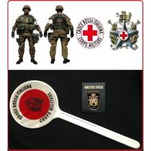 Paletta Segnaletica Ambo le Parti Rosse Croce Rossa Italiana Corpo Militare  Art.R0059