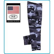 Pantaloni Militari U.S. RIP-STOP BDU Combattimento Camo Midnigt MFH Art.01324X