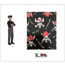Grembiule Cucina Pettorina cm 90x70 Pirati Bianchi Colombo Mario Italia Art. 0220751