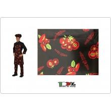 Grembiule Cucina Pettorina cm 90x70 Pomodori Rossi Colombo Mario Italia Art. 0220797