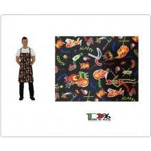 Grembiule Cucina Pettorina cm 90x70 Devil Diavolo Colombo Mario Italia Art. 0220862