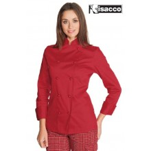 Giacca Cuoco Chef Donna Red  Lady Rossa Isacco Art.057507