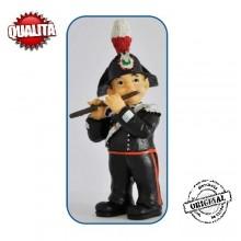 Statuina in Resina Dipinta a Mano Carabinieri Banda Musicale Flauto Art.Seu027 07041