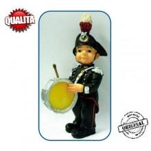 Statuina in Resina Dipinta a Mano Carabinieri Banda Musicale Tamburo Art.Seu028 07041