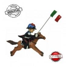Statuina in Resina Dipinta a Mano Carabinieri a Cavallo Art.Seu023 07045
