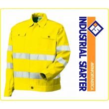 Giubbino Giallo AV Certificato EN471 Industrial Starter Protezione Civile Soccorso Sanitario Art.8445