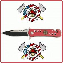 Coltello Serramanico Crossnar Rescue Fire Dept  Vigili Del Fuoco Americani Art.10921