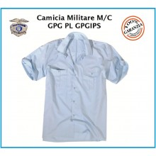 Camicia Militare Azzurra Manica Corta Mil Tec  Guardie Giurate Aeronautica Art.10932011