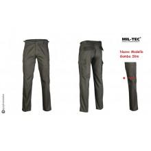 Pantaloni BDU Militari Nero Nuovo Modello Gamba Diritta Vigilanza Sicurezza Guardie Giurate Mil Tec Art. 11811002