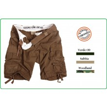 Pantaloni Bermuda Pantaloni Corti Raw Vintage Short Classico Woodland Sabbia Verde OD Art.119273