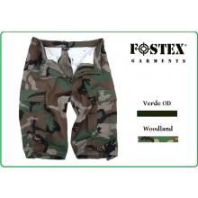 Pantaloni Bermuda Pantaloncini Corti in Ripstop Woodland o Verdi OD FOSTEX Art.119278