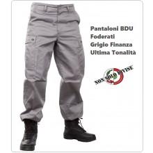 Pantaloni Pantalone Multitasche Multi Tasche Foderato BDU Grigio Colore Nuovo Finanza Vigilanza NSD Art.NSD-PANT-G