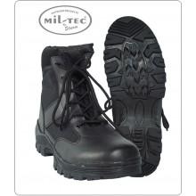 Anfibio Basso Polacca Stivaletto Security SWAT Vigilanza Polizia Black Security Boots con Putale Mil-Tec Art.12836000