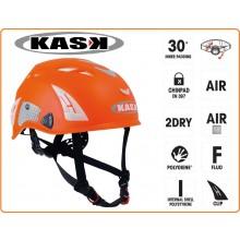 Casco Protezione Arancio PLASMA HI VIZ KASK ITALIA Soccorso Emergenza Alpinismo Sci Art.WHE00009-AR