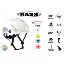 Casco Soccorritore Emergenza Kask Italia Super Plasma HI-VIZ Personalizzato Art.WHE00017