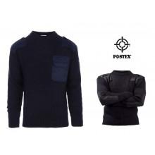 Pullover Maglione Girocollo Modello Ufficio Colore Blu Notte con Spalline Fostex  GPG IPS Guardie Giurate Vigilanza Art. 1313110