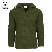 Pullover Maglione Modello Alpino  Verde OD Alpino Cerniera sul Collo  Fostex Art. 1313210