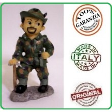 Statuina in resina Dipinta a Mano Esercito Italiano Alpino Alpini Art.Seu040 07041