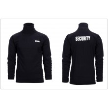 Lupetto Dolcevita Maglioncino Collo Alto con Stampe Security Bodyguard Nero Buttafuori Vigilanza Discoteche  Art.133397