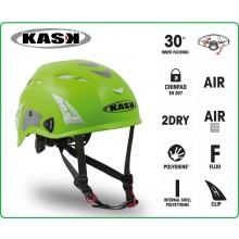Casco Protezione Verde PLASMA HI VIZ KASK ITALIA Soccorso Emergenza Alpinismo Sci Art.WHE00009-V