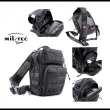 Zaino Monospalla Porta Pistola ASSAULT Small Backpack Over One Shoulder BLACK MIL-TEC Polizia carabinieri GPG IPS Guardie Giurate Art. 14059102