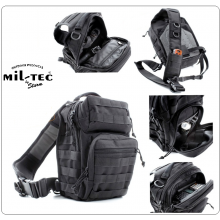Zaino Monospalla Porta Pistola ASSAULT Small Backpack Over One Shoulder BLACK MIL-TEC Art.14059102