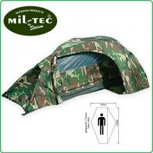 Tenda 1 Posto con Veranda Campeggio Caccia Montagna RECOM MIL-TEC colori Sabbia Verde Woodland Flecktran Art.MILTEC