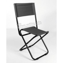 Seggiolino Seggiola Campeggio Neroa Richiudibile Alluminio + Cordura Art.14446002