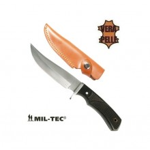 Coltello Lama Fissa con Fodero Pelle Caccia Pesca Knife With Fixed rip Blade Mil-Tec Art. 15370000