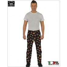 Pantalone Pants Hose Coulisse Cuoco Chef Professionale Antenati Colombo Mario Art. 1595859