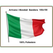 Bandiera Italiana Eco Forza Azzurri da Manifestazione Mondiali cm 100x150 Art.ITA-100x150
