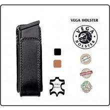 Porta Caricatore Portacaricatore Pelle Aperto Nero o Marrone da Cintura Vega Holster Italia Art.1P05