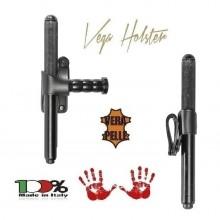 Porta Bastone Tonfa in Pelle Polizia Carabinieri Vigilanza GPG IPS Vega Holster Italia Art.1V24