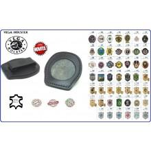 Placca Da Cintura Pelle con Clip Cintura con Placca Metallo Vega Holster Italia Art.1WA?