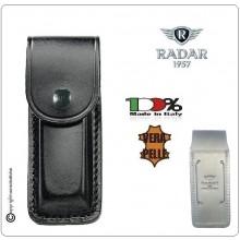 Porta Caricatore Bifilare Pelle Radar 1957  Italia Universale Beretta Glock Colt Polizia Carabinieri Vigilanza Art. 4086-6000